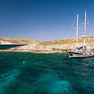 Moored in Blue Lagoon Bay, Comino by Kasia-D
