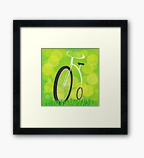 Retro-styled bicycle Framed Print