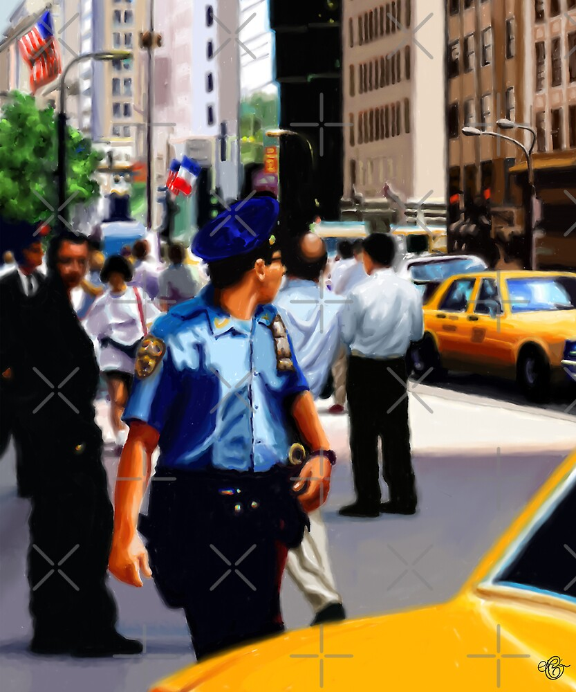 New York Yellow Cabs - Cop by Martine Carlsen