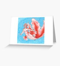 Goldeen Merman Greeting Card