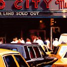 New York Yellow Cabs - Radio City Music Hall by Martine Carlsen