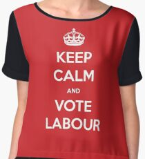 Keep Calm and Vote Labour Chiffon Top