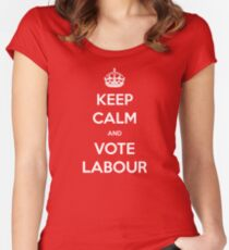 Keep Calm and Vote Labour Women's Fitted Scoop T-Shirt