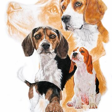 Beagle Medley by BarbBarcikKeith