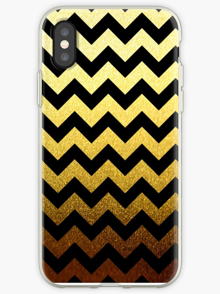 Dazzle: Gold and Black Chevron by ARTiculatePRINT