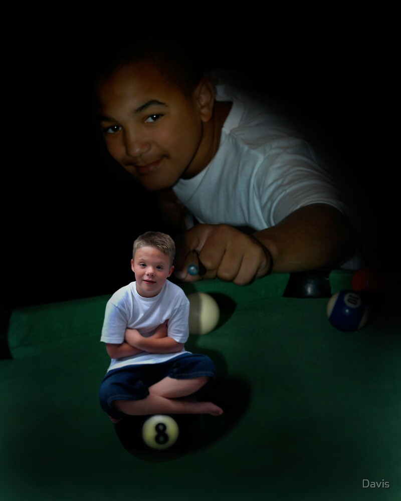 The Eight Ball In The Corner Pocket  by Davis