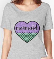 Mermaid at Heart Women's Relaxed Fit T-Shirt