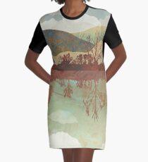 Lakeside Graphic T-Shirt Dress