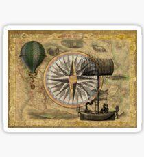 Steampunk Travelers Sticker