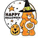 Glücklicher Halloween-Kürbis-Sorgfalt-Bär von RainbowRetro