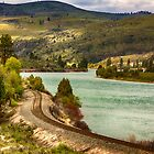 Train tracks by the river by Bryan D. Spellman