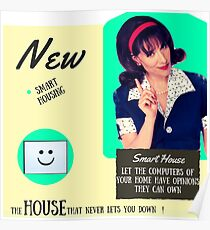 Smart House 1950s Retro Poster Poster