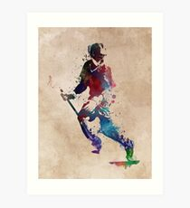 Lacrosse player art 3 Art Print