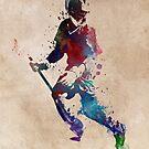 Lacrosse player art 3 by JBJart
