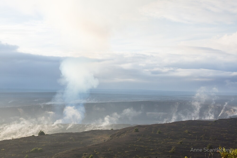 Kilauea caldera by Anne Scantlebury
