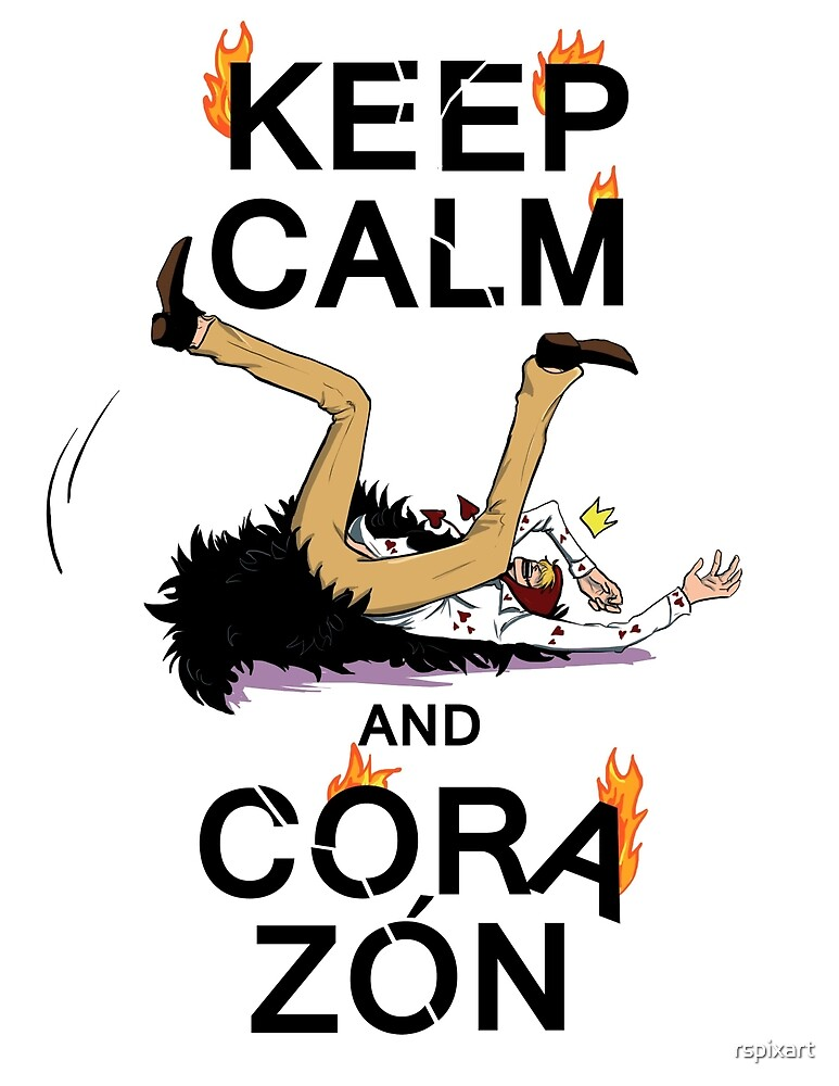 KEEP CALM AND CORAZON Sticker by rspixart