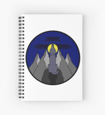 Midnight Wolf Spiral Notebook