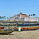Elmina Castle and Fishing Harbour, Ghana, West Africa by Remo Kurka