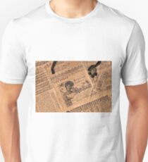 Collaged Patchwork Of Vintage Music Magazine Pages  Unisex T-Shirt