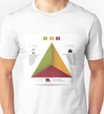 Modern info graphic for business project Unisex T-Shirt