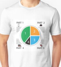 Modern info graphic business circle Unisex T-Shirt