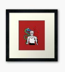 "stan ""the dragon"" lee Framed Print"