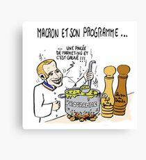 Macron et Son Programme Canvas Print