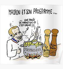 Macron et Son Programme Poster