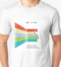 Modern info graphic element for business template Unisex T-Shirt
