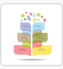 Modern info graphic for business project Sticker