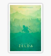 TLOZ - The Legend of Zelda (Minimal design) Sticker