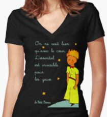 est invisible por les yeuse Women's Fitted V-Neck T-Shirt