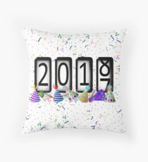 New Years Odometer Party Hats Throw Pillow