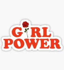 Girl Power Rose Feminism Sticker