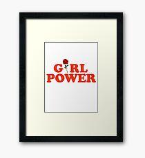 Girl Power Rose Feminism Framed Print