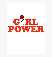 Girl Power Rose Feminism Photographic Print