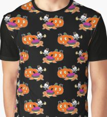 Spooky Turtle Pattern Graphic T-Shirt
