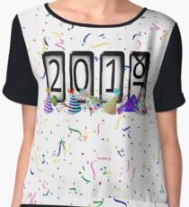 New Years Odometer Party Hats Women's Chiffon Top