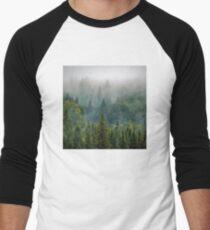 Misty Forest Beauty Men's Baseball ¾ T-Shirt