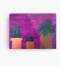 Lámina metálica Tres pequeños cactus