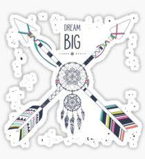 """Dream Big"" grunge motivational illustration Sticker"