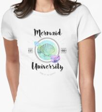 Mermaid University Womens Fitted T-Shirt