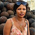Beautiful African Woman at Cape Coast Castle by Remo Kurka