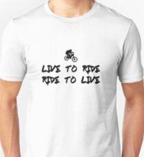 Camiseta unisex Live to ride