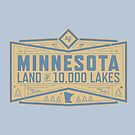 Minnesota Land of 10,000 Lakes Badge by tndesigns92