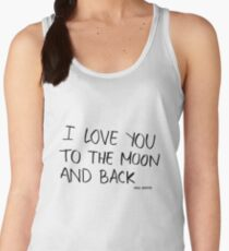 I love you to the moon and back Women's Tank Top