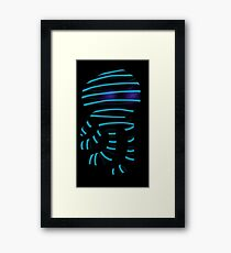 Squid No. 1 - Ghosts and Blue Stripes Framed Print