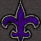 Fleur de Lis - Purple Distressed by HandDrawnTees