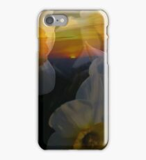 Spring Mountain Sunrise with Daffodils iPhone Case/Skin