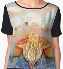 summer clouds Women's Chiffon Top